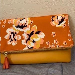 Rachel Pally flowered clutch bag